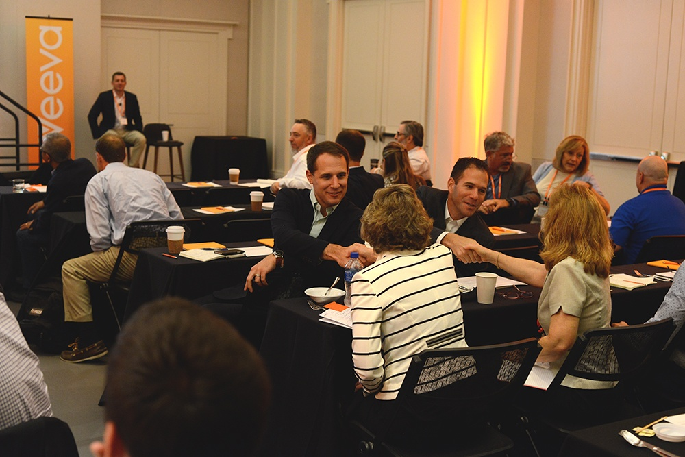Participants networking with their quality and IT peers