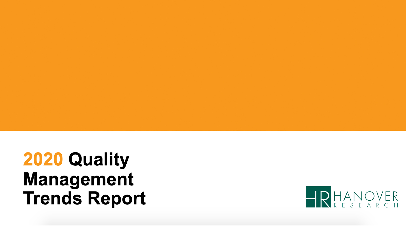 2020 Trends In Quality Management