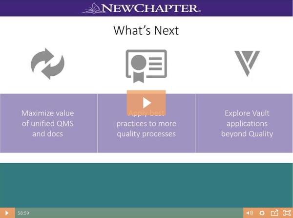 Customer Webinar: New Chapter