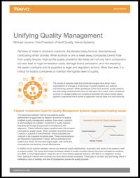 Unifying Quality Management