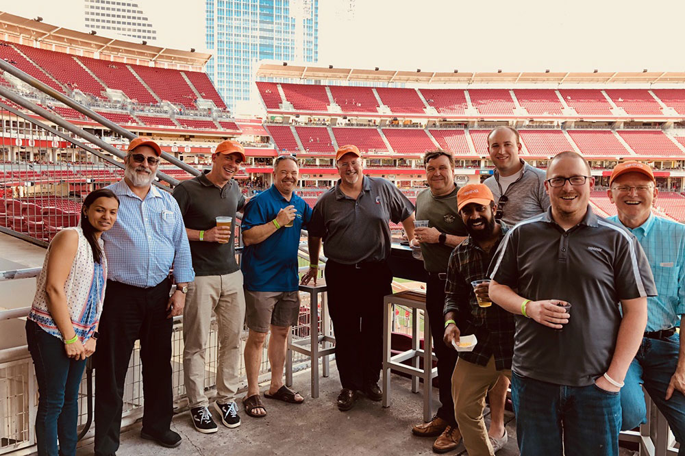 Attendees at Great American Ballpark