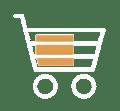 shopping cart white