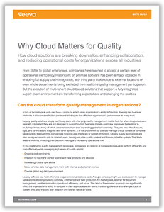 Why Cloud Matters for Quality