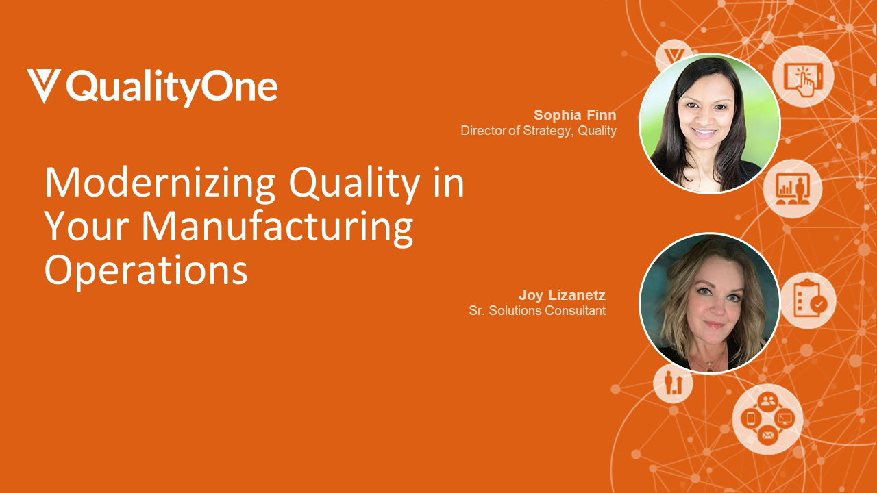 Modernizing Quality in Your Manufacturing Operations