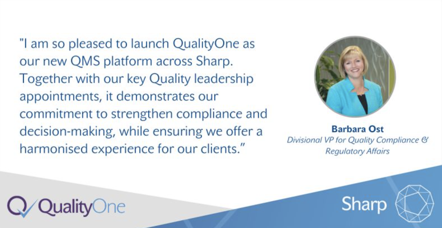 Sharp Implements Veeva's Cloud-based QMS and Strengthens Quality Leadership