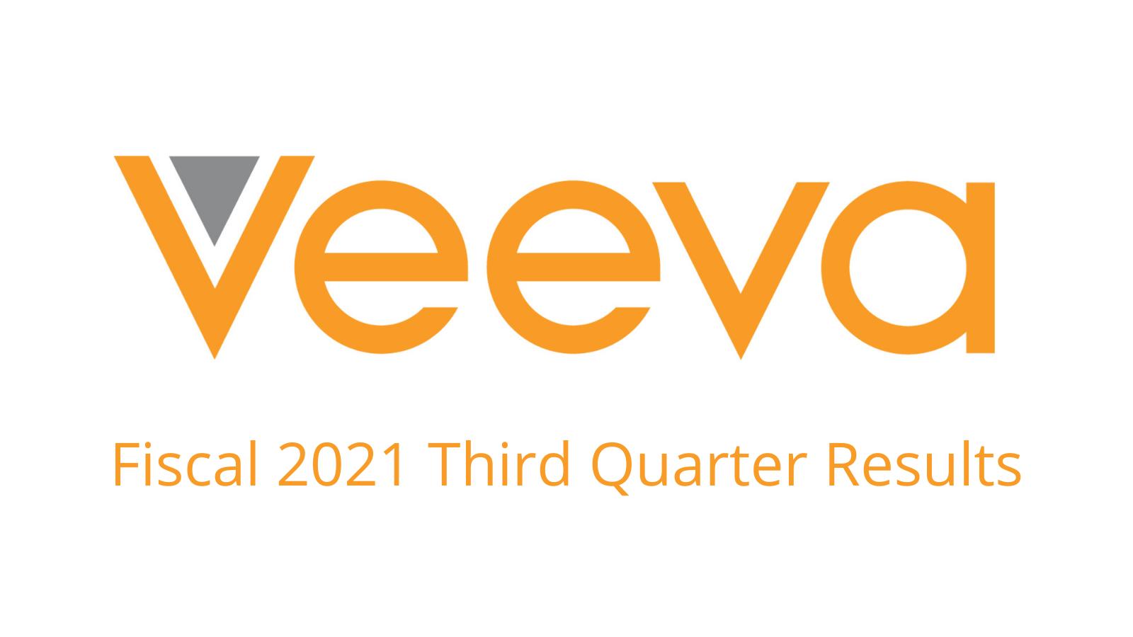 Veeva Announces Fiscal 2021 Third Quarter Results