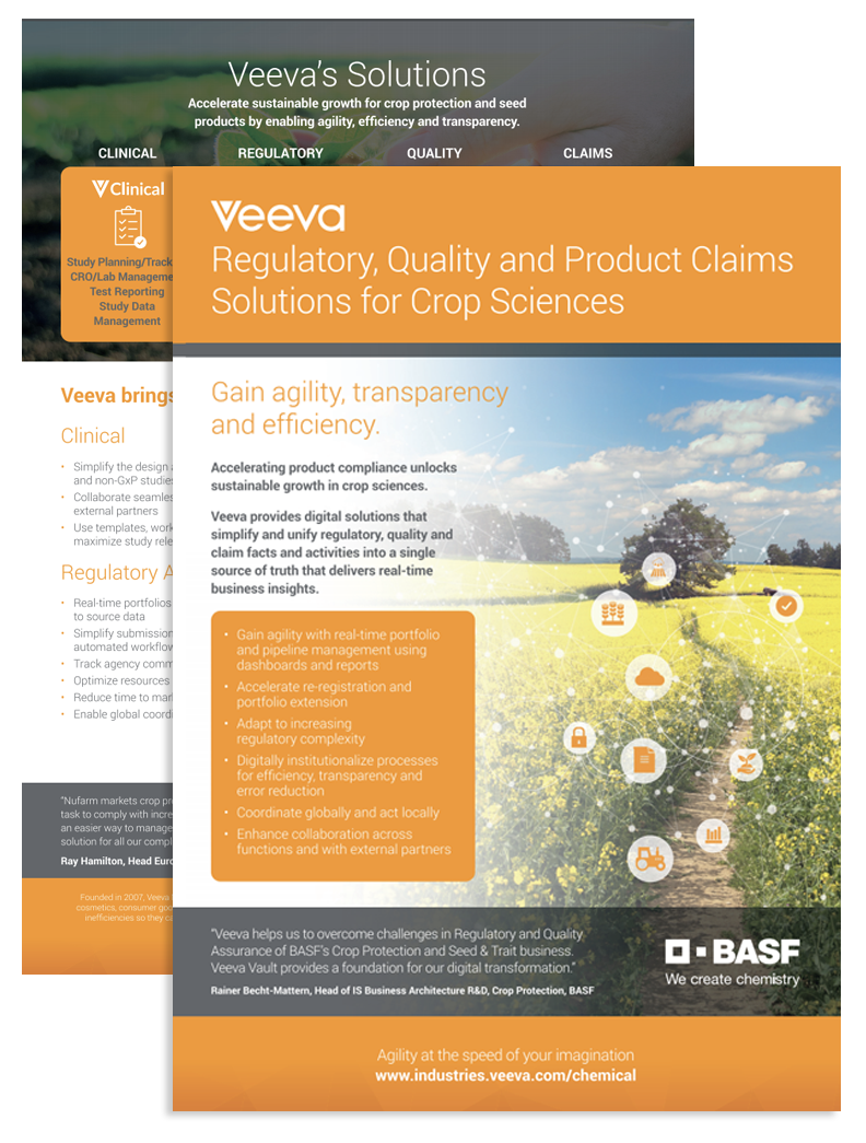 Veevas Solutions for Crop Science