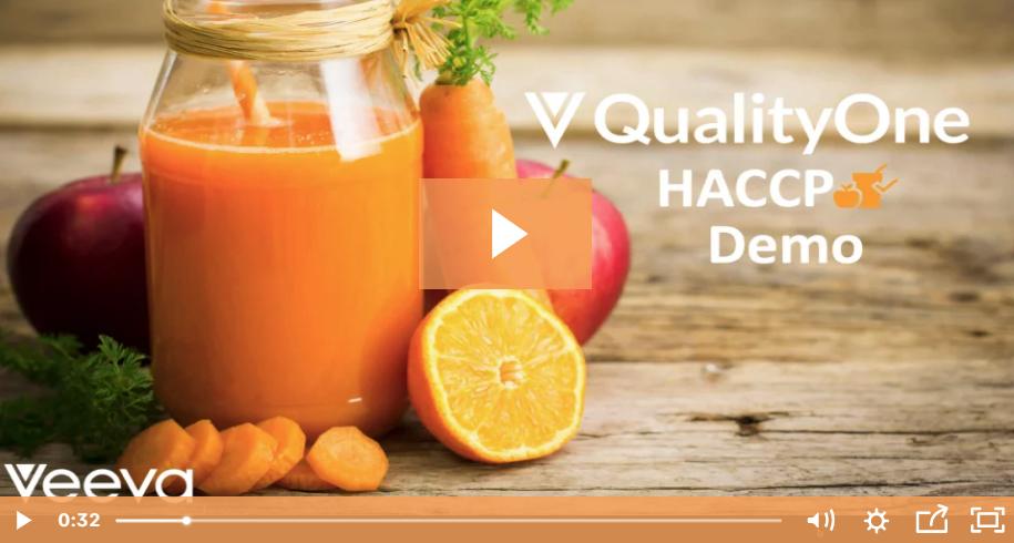 Veeva QualityOne HACCP Demo