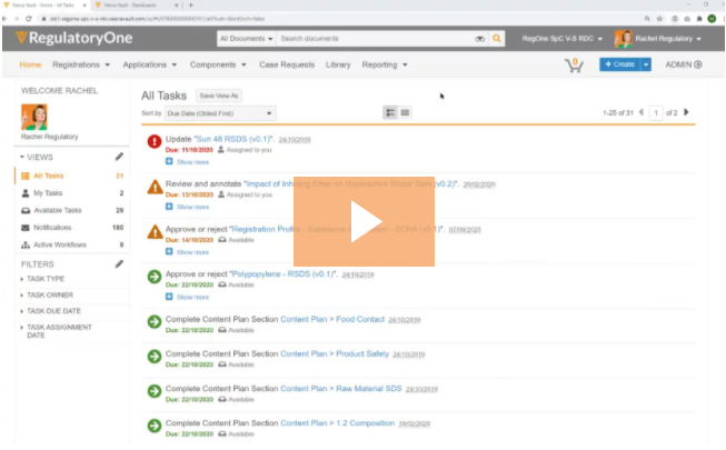 Veeva RegulatoryOne Demo - Regulatory Document Management