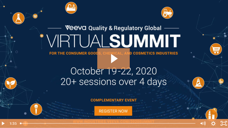 Veeva Quality & Regulatory Global Virtual Summit Trailer Video