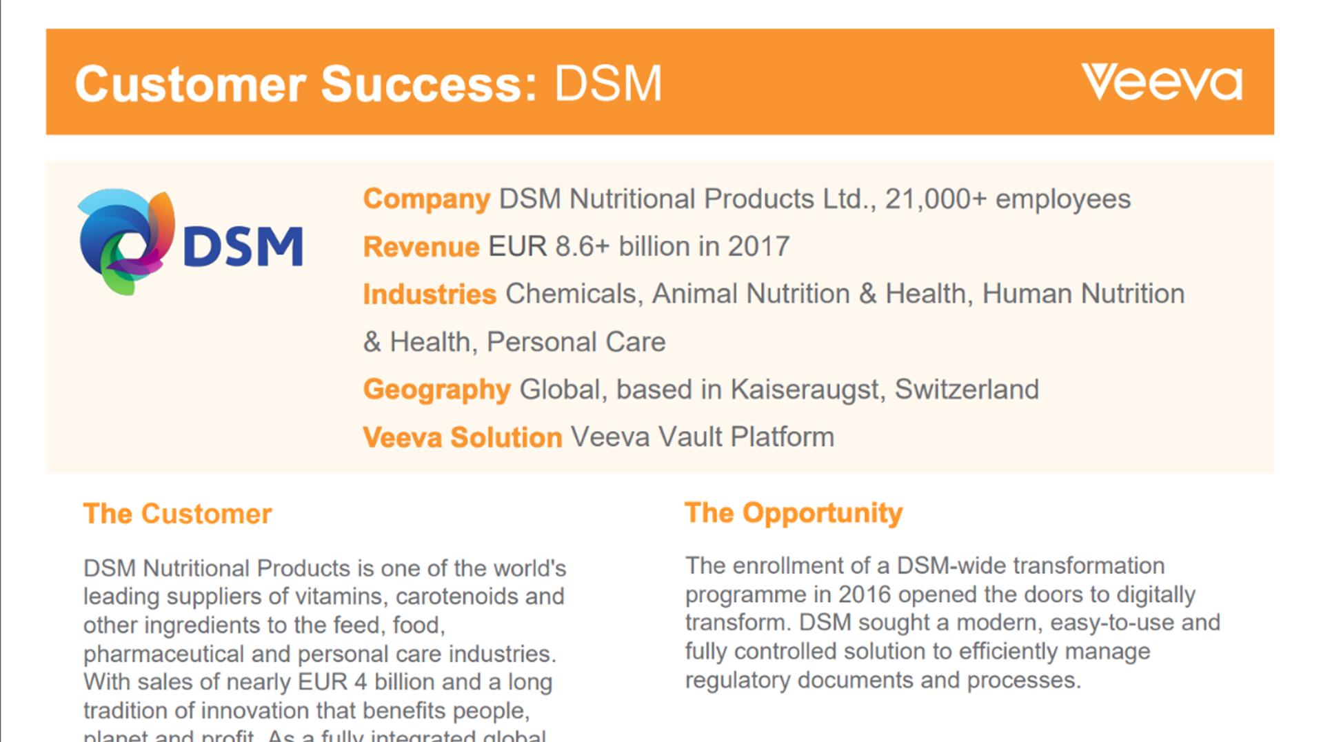 Customer Success DSM